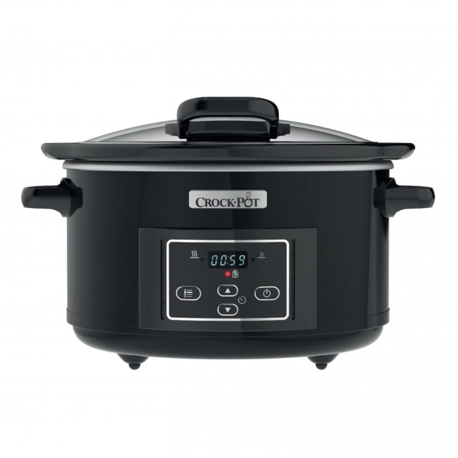 Crock-Pot Slow Cooker Black 5L Hinged Lid CR052