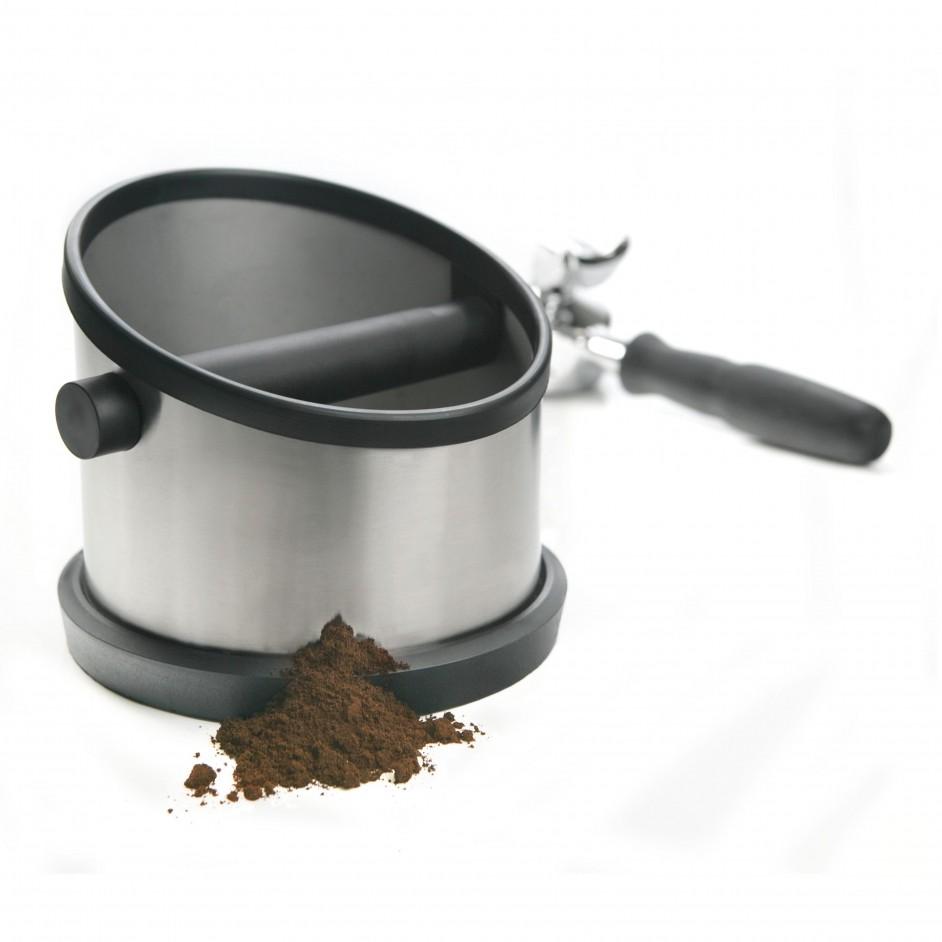 Cafelat uitklopbak steel
