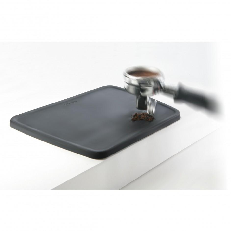 Cafelat tamping mat zwart
