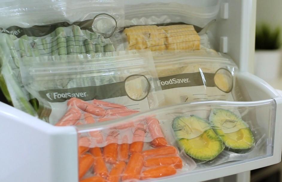 Ruimtebesparend FoodSaver Fresh zipper bags