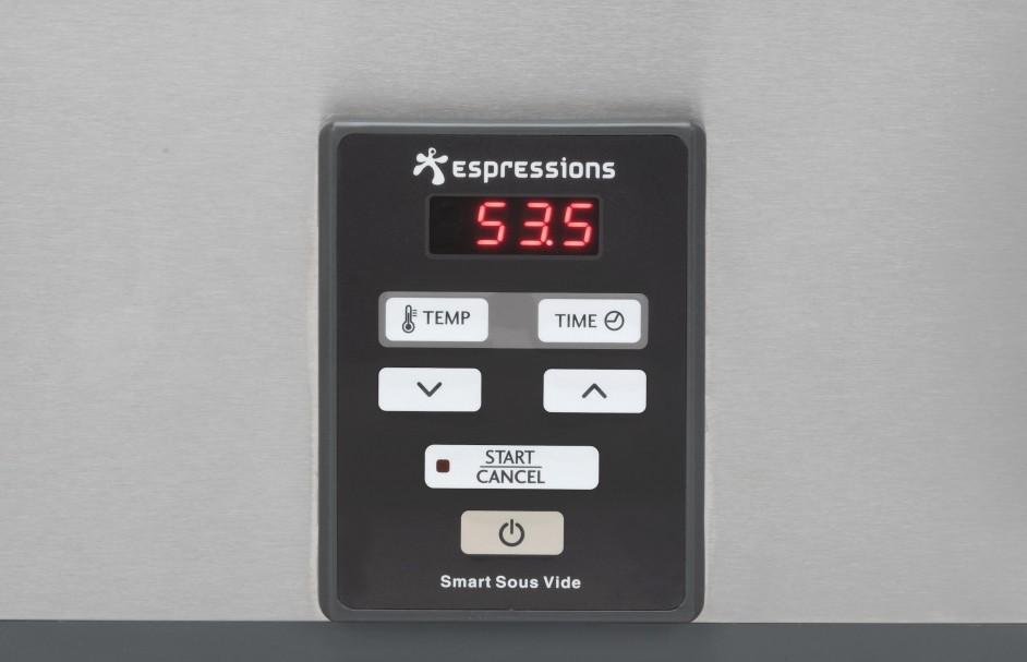Overzichtelijke bediening EP5000 Smart Sous-Vide