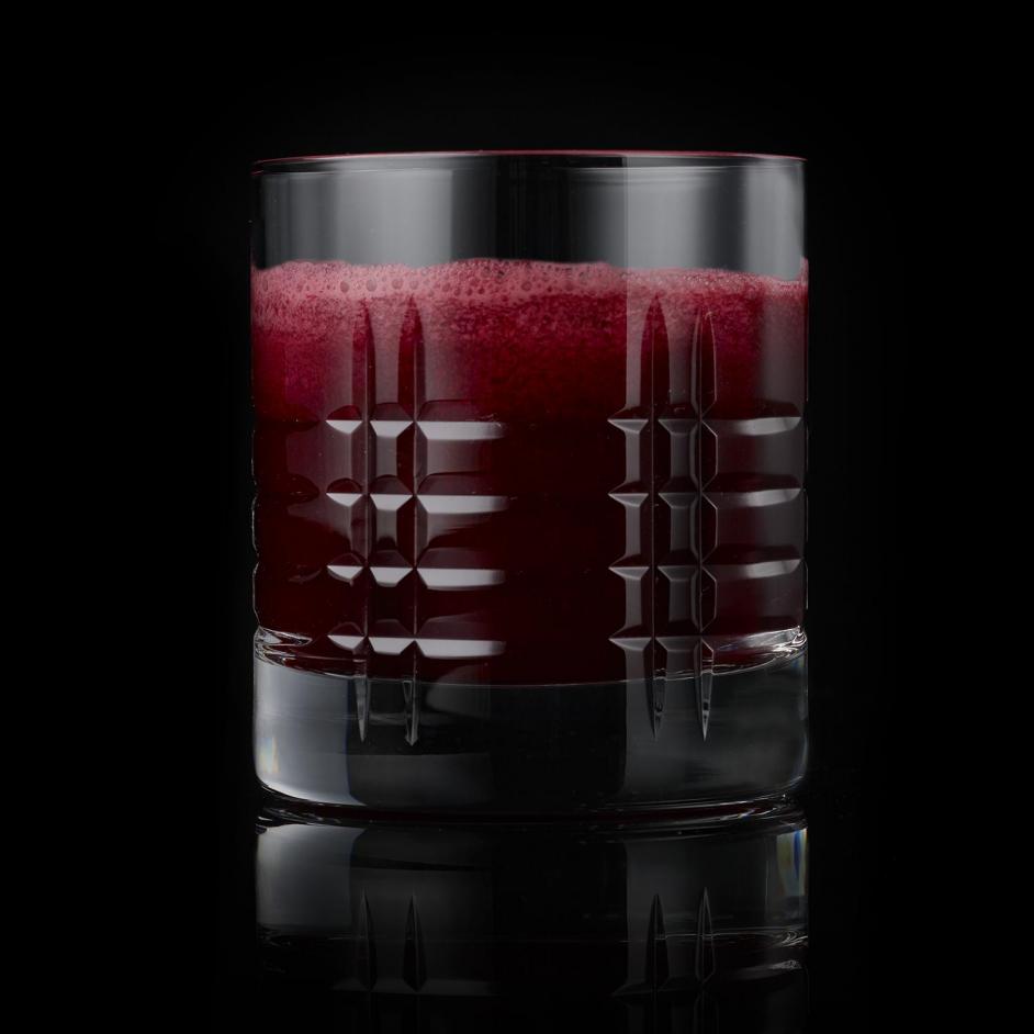 Pomegranate juice on black