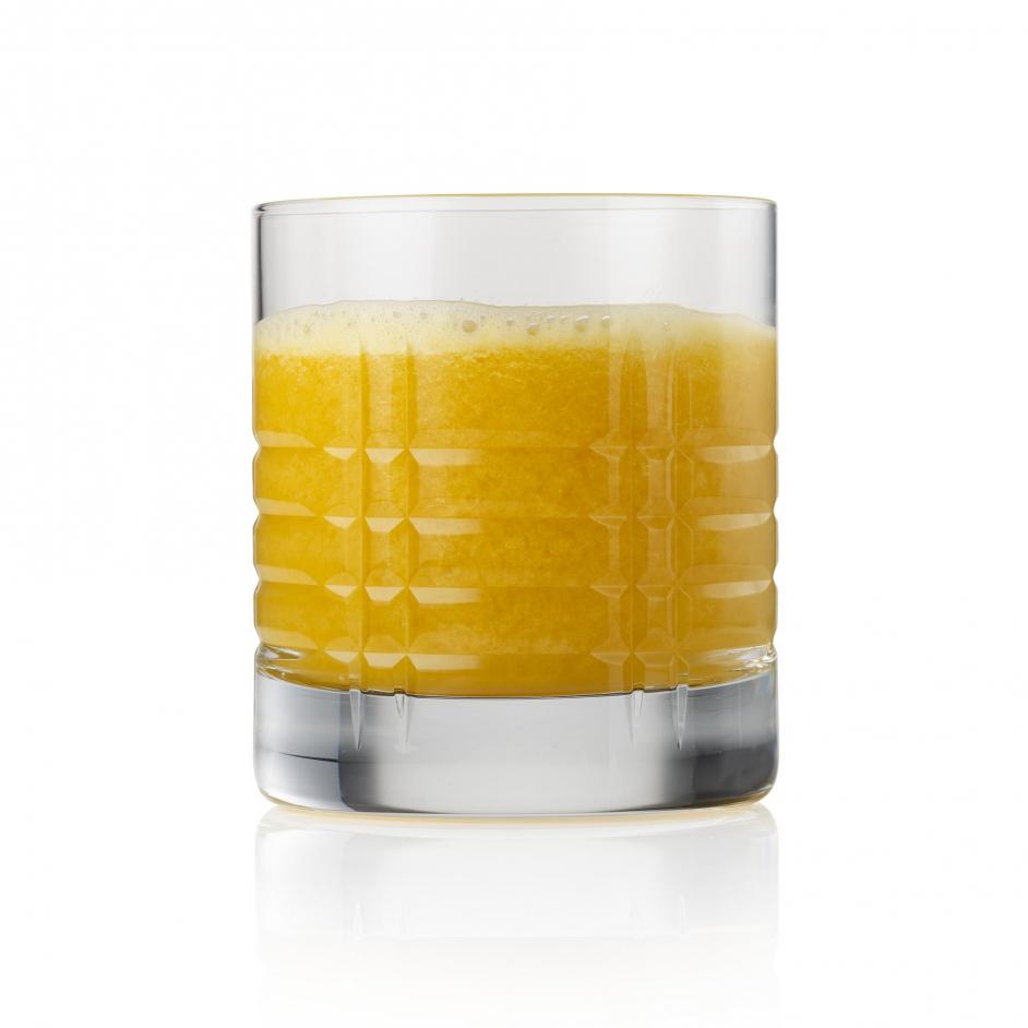 Orange juice creamy on white