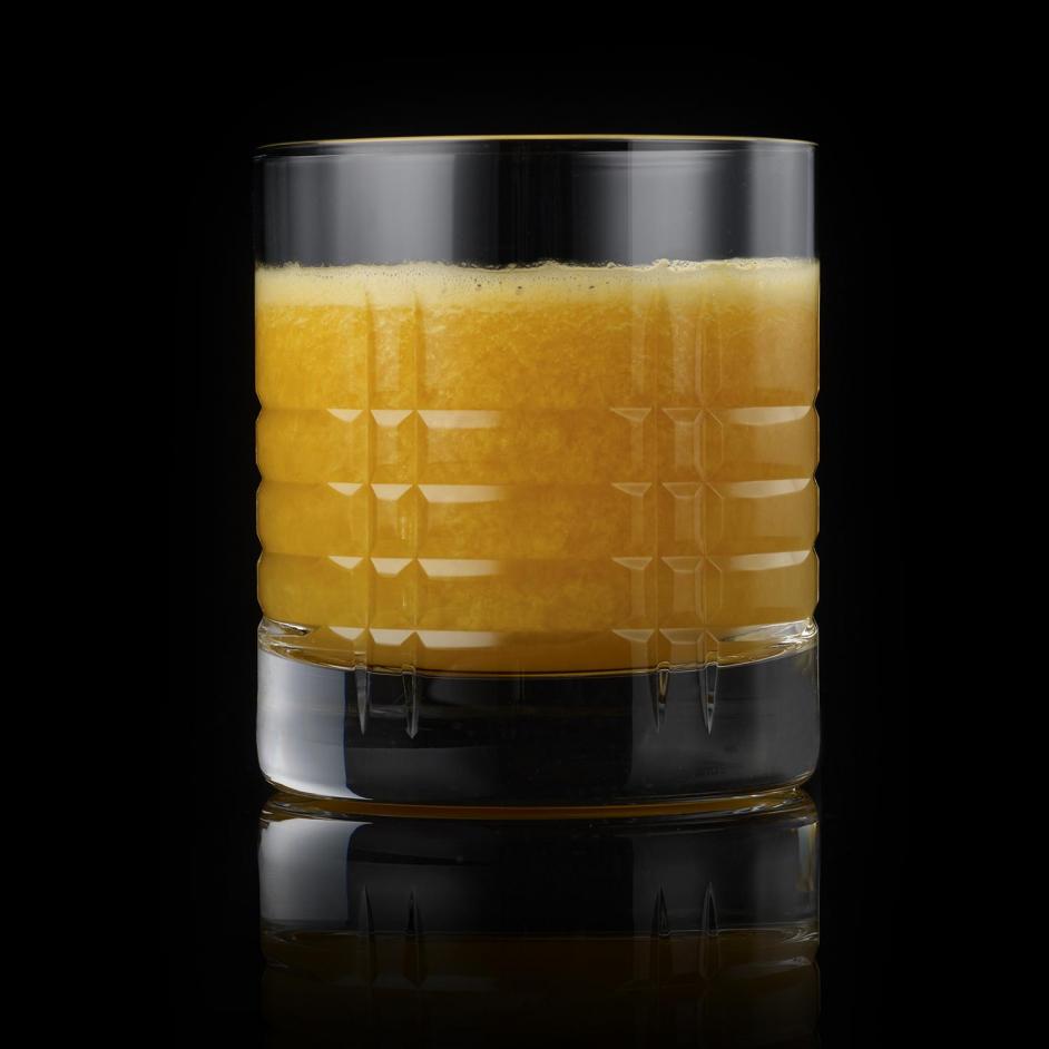 Orange juice creamy on black