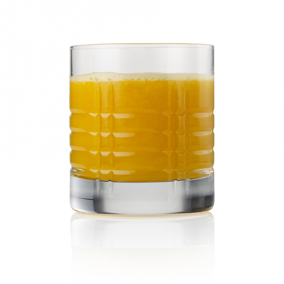 Orange juice clear on white