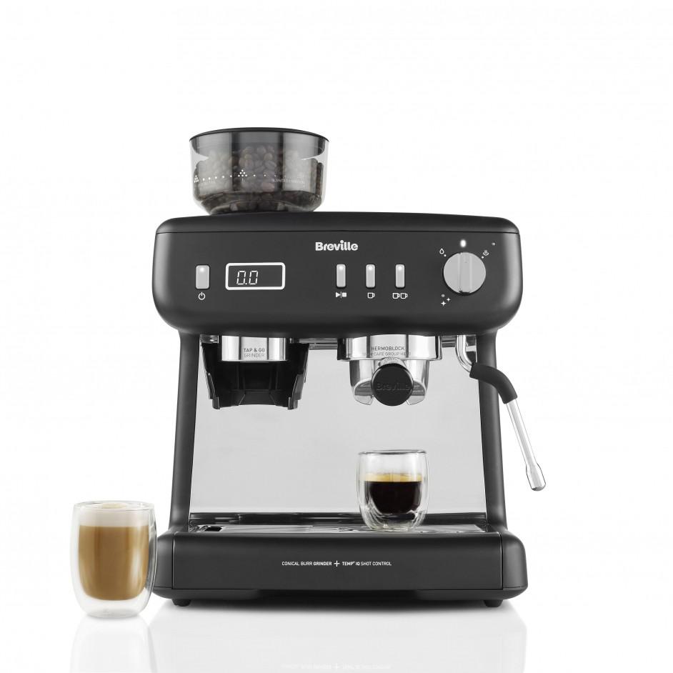 Breville Barista Max+ vooraanzicht met koffie